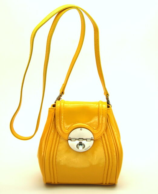 Mimco Offbeat Patent Leather Hip Bag In Marigold Yellow Bnwt Rrp 199