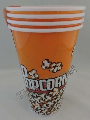 Movie Popcorn Bowls Holders 4, 8 or 12 Piece sets Plastic Tub Theater Bags
