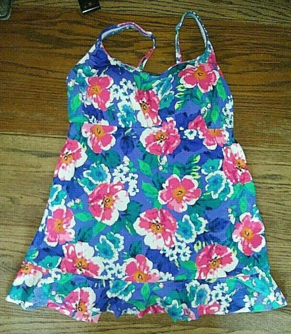 Upstream Women's Swim Suit-Size 14- 1 Piece-Flowers   M12
