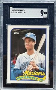 PSA 9 - 1989 Topps Traded Tiffany KEN GRIFFEY JR. Rookie Card RC #41T ICONIC!