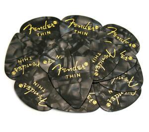 (12) Fender Thin Noir Moto Celluloïd 351 Guitar/bass Picks 098-0351-743-afficher Le Titre D'origine PréVenir Et GuéRir Les Maladies