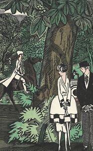 Gazette Du Bon Ton Pochoir Vous Avez Vu Cette Petit 1920 Simeon