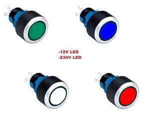 Drucktaster-Illuminated-Taster-Knopf-Push-Switch-Klingel-Industrieknopf-Schalter