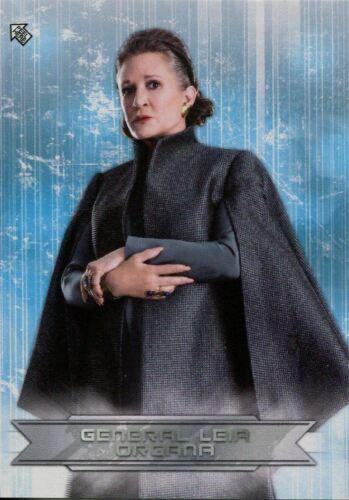 Star Wars Last Jedi S2 Sticker Chase Card CS-8 General Leia Organa