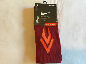 best authentic 248ac 45f2b Image is loading Nike-Elite-Vapor-Cushioned-Baseball-Socks-Crew-Crimson-