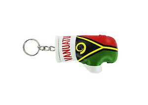 mini boxing gloves keychain keyring key chain ring leather Flag ecuador