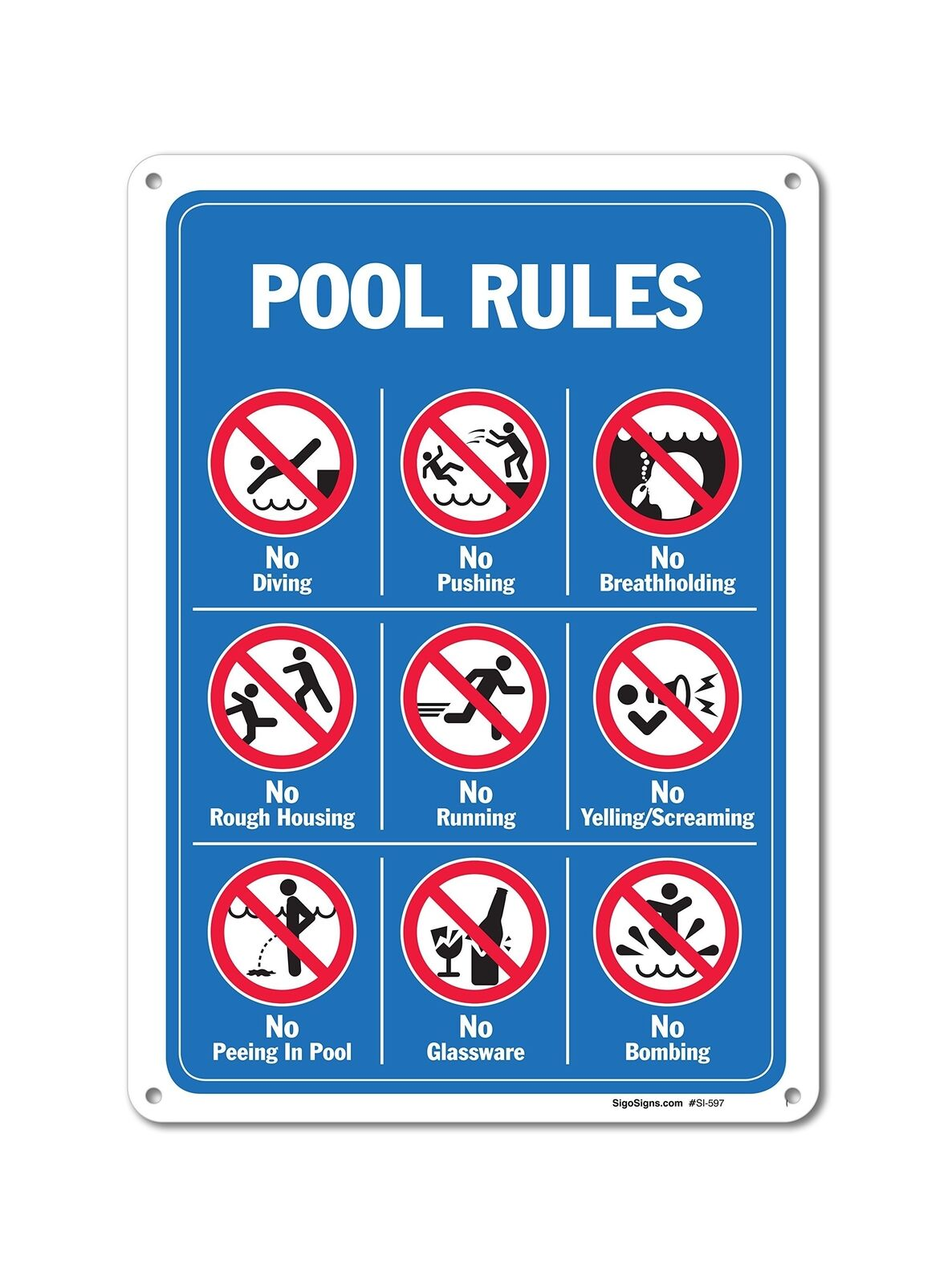 Warning Sign Notice Persons with Diarrhea Shall Not Enter The Pool Sign Road Sign Business Sign 12X16 Inches Aluminum Metal Tin Sign