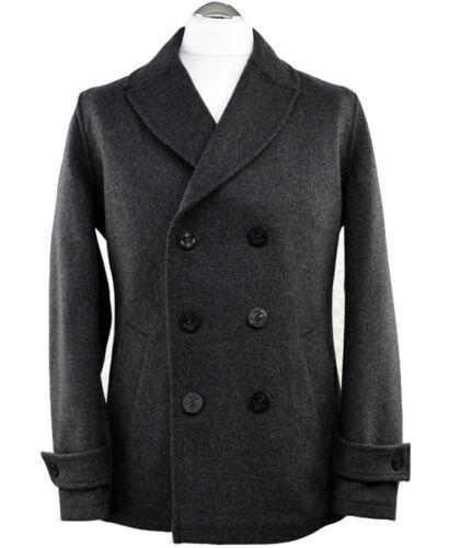 antracite di Cappotto di lana grigio pisello TZ7ZX