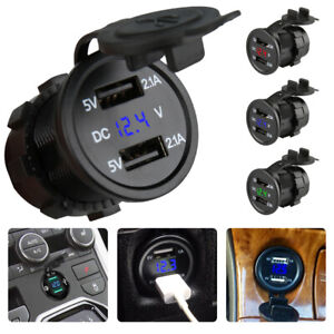 Dual-Car-Boat-Cigarette-Lighter-Socket-Charger-Power-Adapter-Outlet-12V-24V-aus