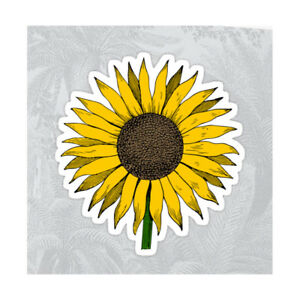 Sunflower yellow cute colorful flower sticker flowers decal 31 x 3 image is loading sunflower yellow cute colorful flower sticker flowers decal mightylinksfo
