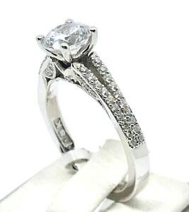 Tacori Round Brilliant Diamond Engagement Wedding Ring Setting 18kw Ebay