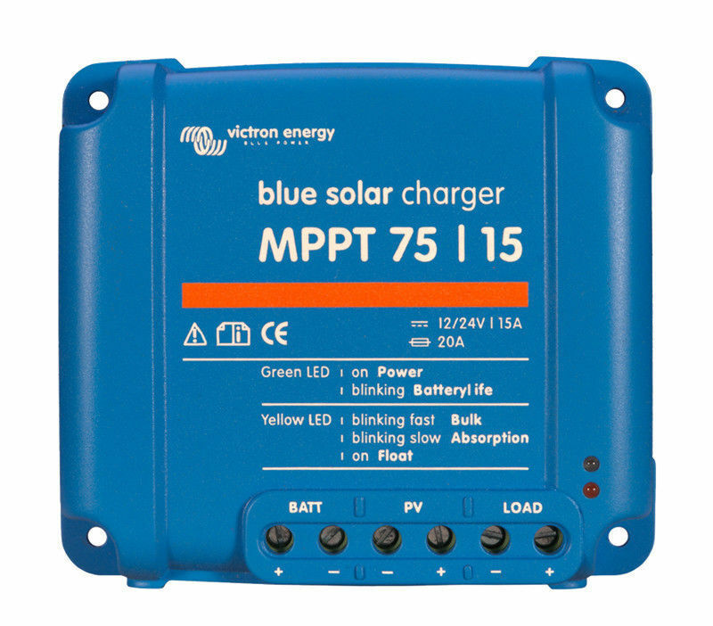 Victron BlauSolar MPPT 75/15 - Solar Charge Controller (75 Volts / 15 Amps)