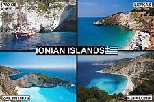 SOUVENIR FRIDGE MAGNET of THE IONIAN ISLANDS GREECE & CORFU & ZAKYNTHOS & PAXOS