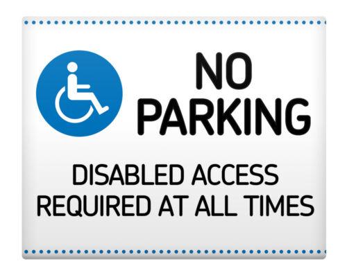 "NO PARKING Handicapés Access Required all times métal signe 8x10/"" Home Business #42"