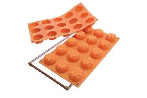 Stampo 15 mini girasole silicone Silikomart SF 072 forma stampi forno Rotex