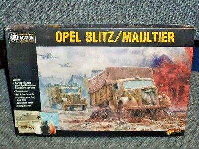 German Opel Blitz or Maultier Truck WWII 28mm 1//56th WARLORD BOLT ACTION