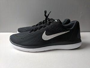 c6b5b3aecee7 Brand New Nike Kids Boys Flex 2017 RN Running Shoes Black Silver ...