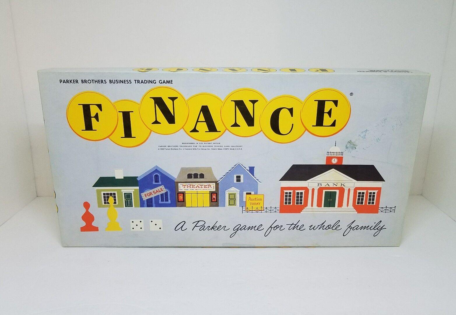 Vintage Finance Board Game No. 100 1958 Parker Bredhers Business Trading