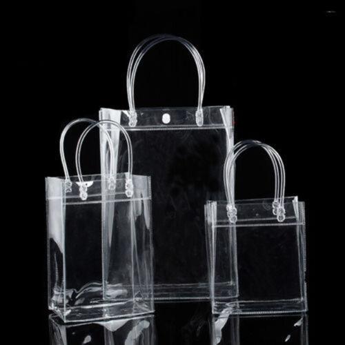 Femme Clair Sacs fourre-tout transparent sac à main épaule cabas de voyage Maquillage Sacs