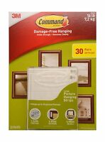Command Damage Free Picture And Frame Hanging Large Strips (30 ... Free Shipping
