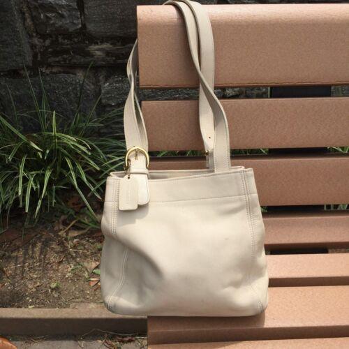 Vintage Coach® Bucket Bag - White