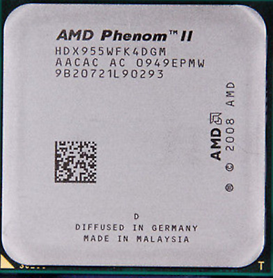 AMD CPU Phenom II-X4 955 HDX955WFK4DGM 3.2GHz Socket AM3 TDP 95Watt