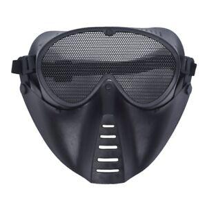 MASQUE-DE-PROTECTION-NOIR-POUR-AIRSOFT-PAINTBALL-CHASSE-C8U5