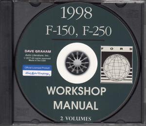 1998 ford f150 f250 shop manual set cd f 150 f 250 truck repair rh ebay co uk 1997 F250 2000 F 250 Super Duty