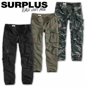 Surplus-AIRBORNE-vintage-pantalon-slimmy-Army-Military-Cargo-trousers-Chino-worker