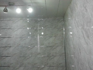 Image Is Loading 3 Slate Grey Marble Effect PVC Bathroom Wall  Part 59