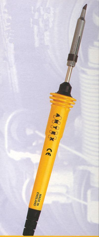 Antex Modello XS25 - Saldatore 25W 230V con Silicone Tamburo - Cingolato 48