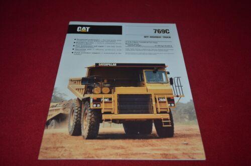 Caterpillar 769C Rock Haul Truck Dealer/'s Brochure DCPA6 ver2