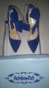 à Blue talon pouces Royal taille Boxed 4 38 haut 5 New 5 Cat Femmes Rainbow qB7YwXx