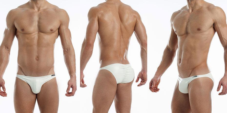 Modus Vivendi Blend Leather Look Men's Brief White