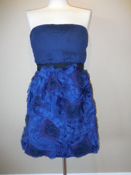 New BCBG MAXAZRIA Ruffles Navy Dress Größe 10
