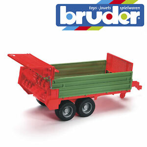 Bruder-Tractor-Stable-Dung-Spreader-Kids-Farm-Toy-Childrens-Model-Scale-1-16