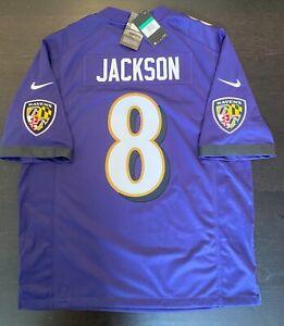 Lamar Jackson #8 Baltimore Ravens Home Nike Limited Jersey - XL ...
