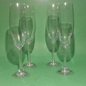 Crystal-Champagne-Flute-8-oz-9-034-tall-Set-of-4