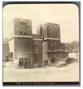 Egypte-Caire-Bab-El-Nasr-Vintage-albumen-print-Tirage-albumine