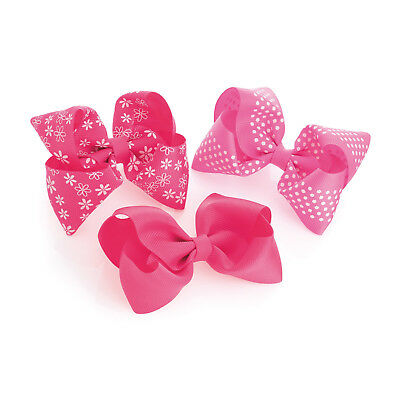 """5/"""" Red Flower Large Bow Hair Alligator Clips Girls Ribbon Bow Kids Accessories"""