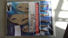 1801352 Clarke CHT352 3-Pce Lock Grip Plier Set