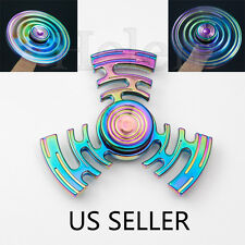 #2 Maze Zinc Hand Finger Spinner Fidget Desk Focus Toy 3D EDC ADHD Rainbow