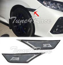 For 16 Up Honda Civic Side Marker Lights Lamps Crystal Smoke Bumper Reflector