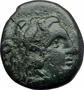 LYSIMACHOS-297BC-Thrace-King-Authentic-Ancient-Greek-Coin-HERCULES-WREATH-i60824