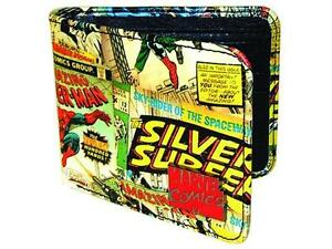 Marvel Classic Comic Book Covers Outside Collage Vinyl Bi-Fold Wallet NEW UNUSED