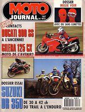 MOTO JOURNAL  977 SUZUKI DR 350 DUCATI 900 SS GILERA 125 CX BMW Rennsport 1991 2