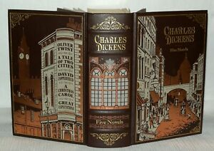Charles-Dickens-Five-Novels-In-One-A-Christmas-Carol-Barnes-amp-Noble-2010-HB