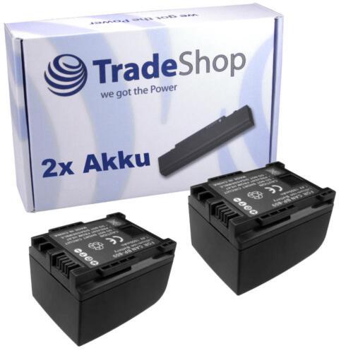 Batería 2x para canon LEGRIA fs-37 fs-200 fs-305 fs-306 chip