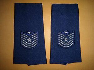 Paire De États-Unis Air Force Maître Sergent Grand Épaulettes Épaule Badges