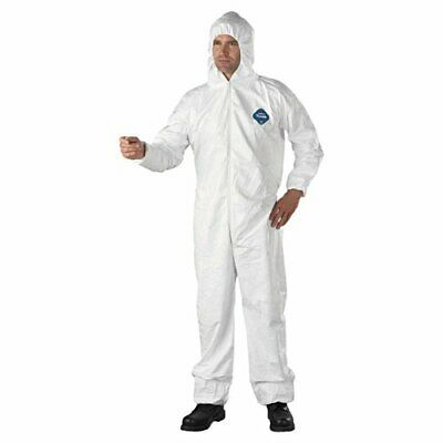 2XL 1 SUIT Dupont TY127S Tyvek Coverall Bunny Suit Hood  Size M